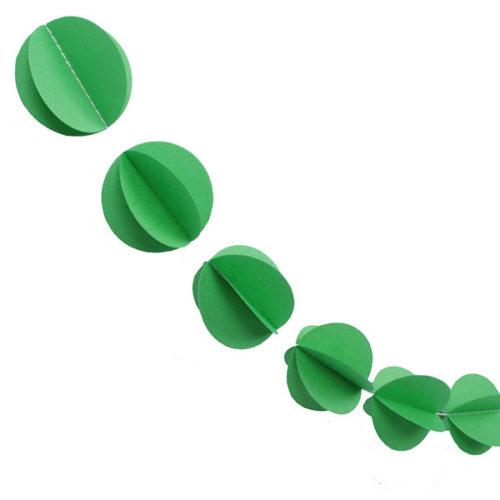 Гирлянда 3D Кружочки светло-зеленая 165 см