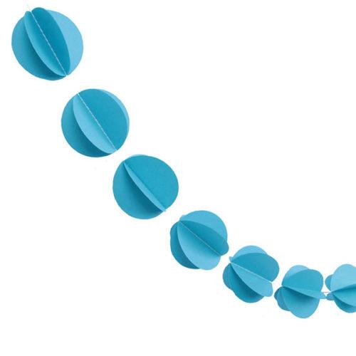 Гирлянда 3D Кружочки синяя 165 см