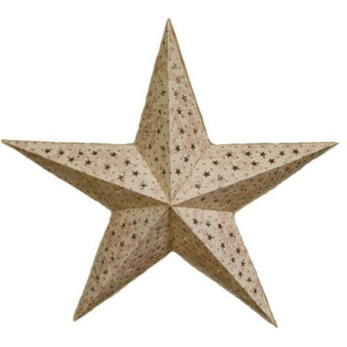 Звезда бумажная 60 см бежевая