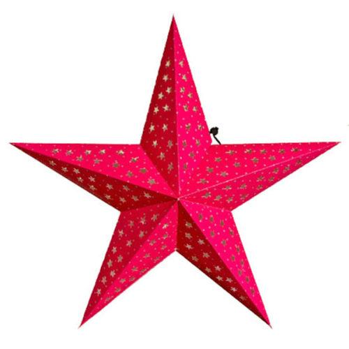 Звезда бумажная 60 см малиновая