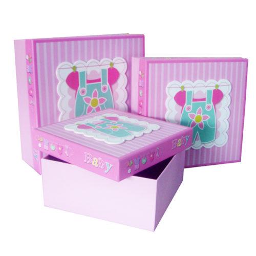 Коробка квадрат Набор Малышка 21х21х9 см