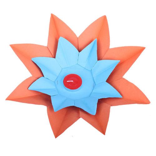 Плавающий фонарик d 28 см Лотос оранжевый + синий