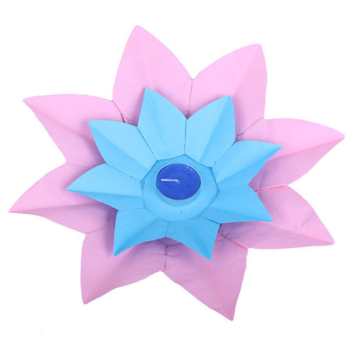 Плавающий фонарик d 28 см Лотос розовый + синий