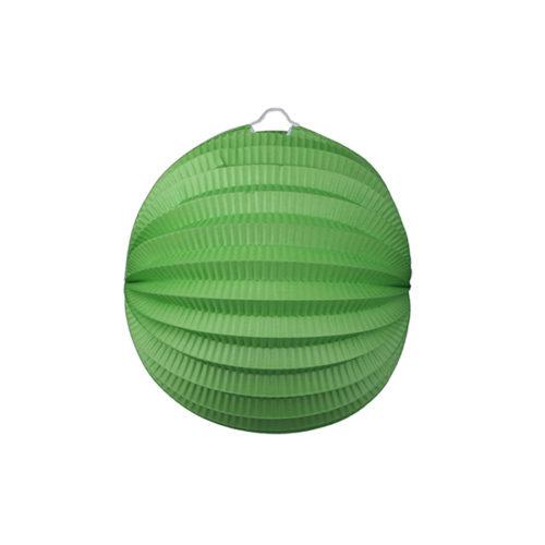 Подвесной фонарик Аккордеон 23 см зеленый