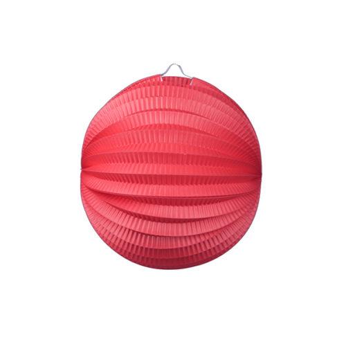 Подвесной фонарик Аккордеон 23 см красный