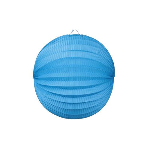 Подвесной фонарик Аккордеон 23 см синий