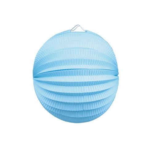 Подвесной фонарик Аккордеон 25 см голубой