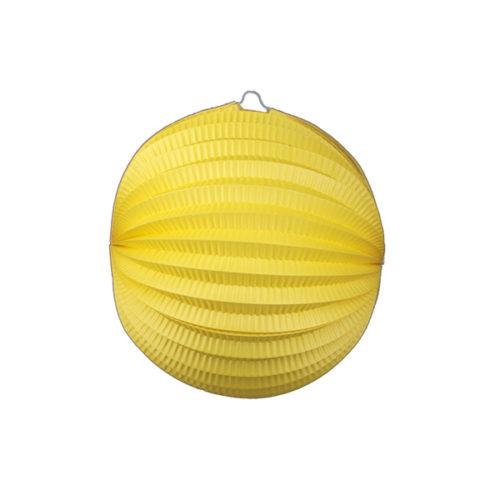 Подвесной фонарик Аккордеон 25 см желтый