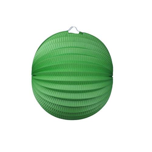 Подвесной фонарик Аккордеон 25 см зеленый