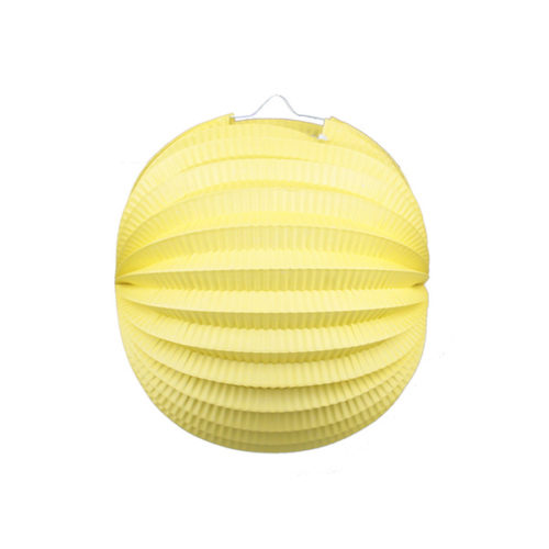 Подвесной фонарик Аккордеон 25 см лимонный
