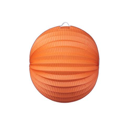 Подвесной фонарик Аккордеон 25 см оранжевый