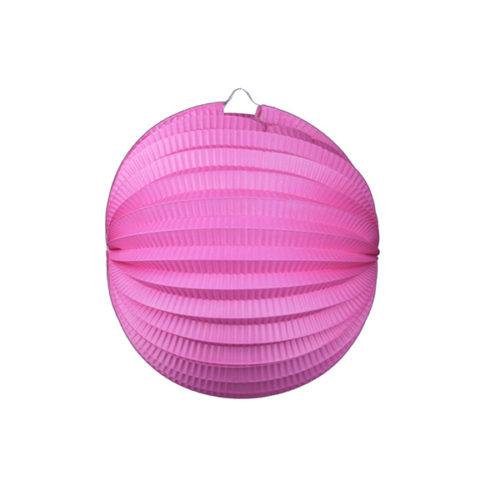 Подвесной фонарик Аккордеон 25 см розовый