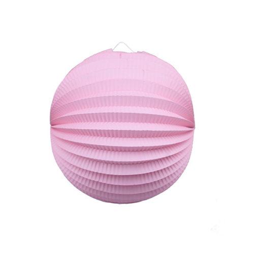 Подвесной фонарик Аккордеон 25 см светло-розовый