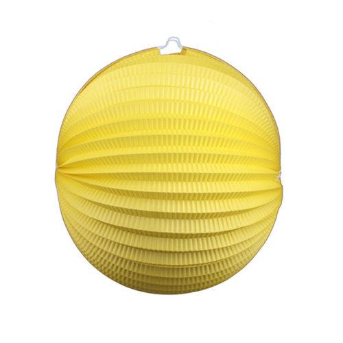 Подвесной фонарик Аккордеон 34 см желтый