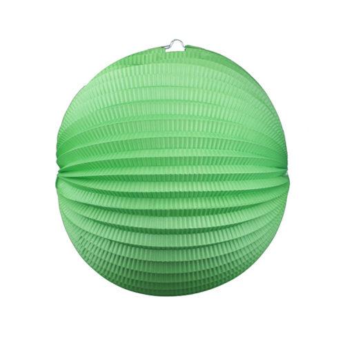 Подвесной фонарик Аккордеон 34 см зеленый