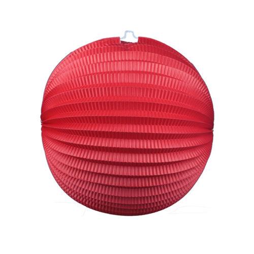 Подвесной фонарик Аккордеон 34 см красный