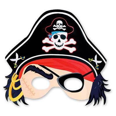 Полумаска Пирата 8 шт