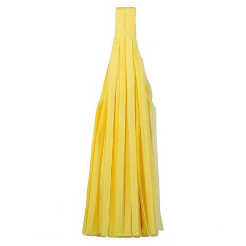 Помпон Кисточка Тассел 35 х 25 см желтый 10 листов