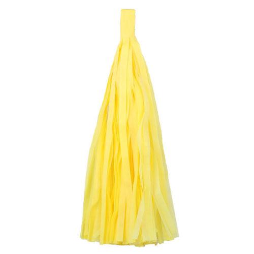 Помпон Кисточка Тассел 35 х 25 см желтый 5 листов