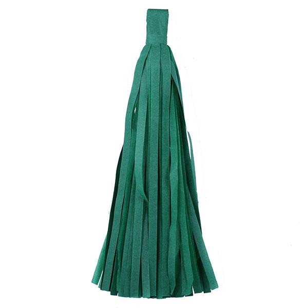 Помпон Кисточка Тассел 35 х 25 см зеленый 10 листов