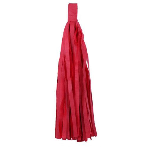 Помпон Кисточка Тассел 35 х 25 см красный 5 листов
