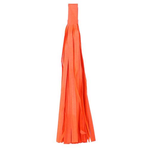 Помпон Кисточка Тассел 35 х 25 см оранжевый 5 листов