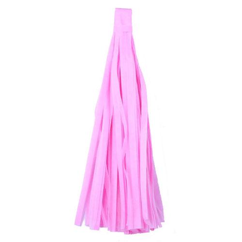 Помпон Кисточка Тассел 35 х 25 см розовый 10 листов