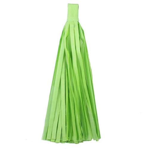 Помпон Кисточка Тассел 35 х 25 см салатовый 10 листов