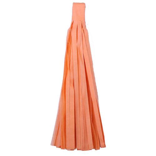Помпон Кисточка Тассел 35 х 25 см светло-оранжевый 10 листов