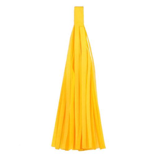 Помпон Кисточка Тассел 35 х 25 см ярко-желтый 5 листов
