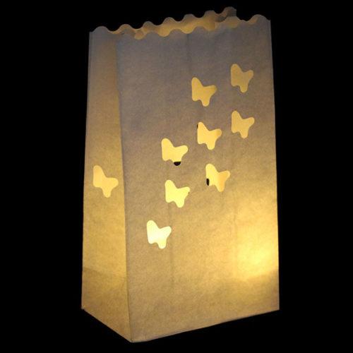 Светящийся пакет 26 х 9 х 15 Мотыльки