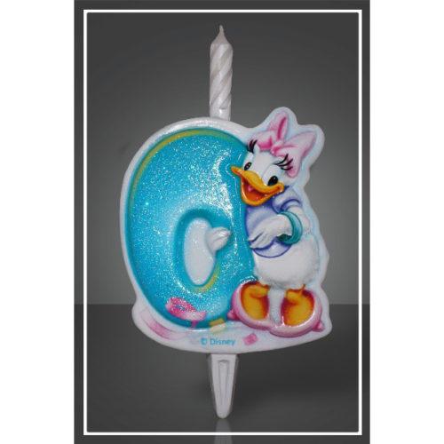 Свеча Цифра 0 Disney Микки Маус 12 см
