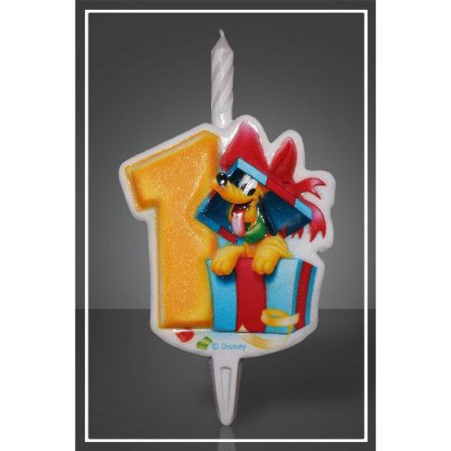 Свеча Цифра 1 Disney Микки Маус 12 см