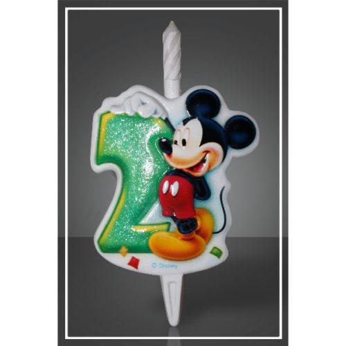 Свеча Цифра 2 Disney Микки Маус 12 см