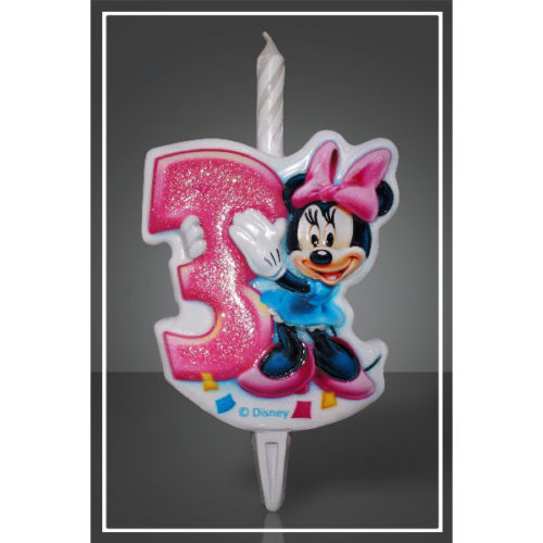 Свеча Цифра 3 Disney Микки Маус 12 см