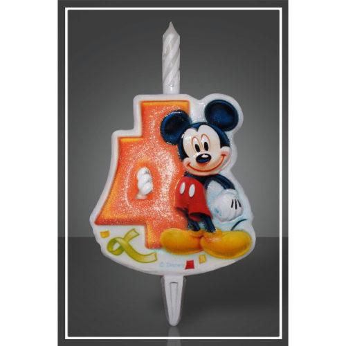 Свеча Цифра 4 Disney Микки Маус 12 см