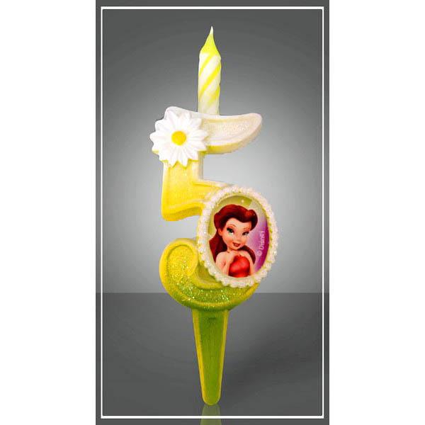 Свеча Цифра 5 Disney Фея 12,5 см