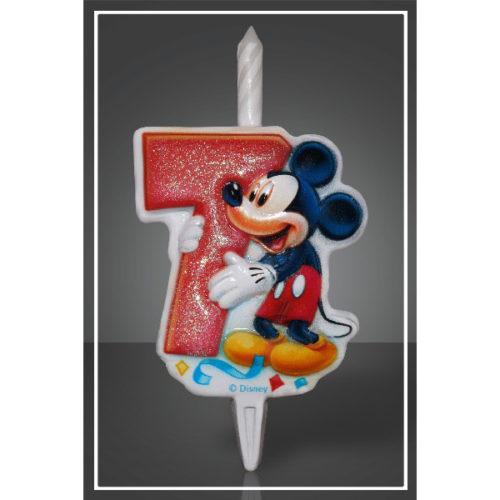 Свеча Цифра 7 Disney Микки Маус 12 см