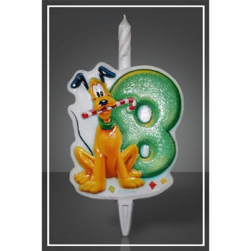 Свеча Цифра 8 Disney Микки Маус 12 см
