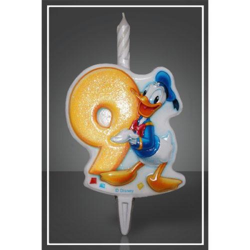 Свеча Цифра 9 Disney Микки Маус 12 см