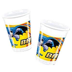Стаканы пластиковые 200 мл Бэтмен 8 шт
