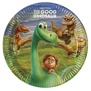Тарелки бумажные 23 см Хороший Динозавр