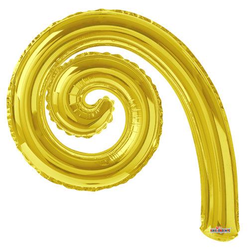 Шар 36 см Спираль Золото