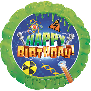 Шар 46 см Круг С Днем рождения наука