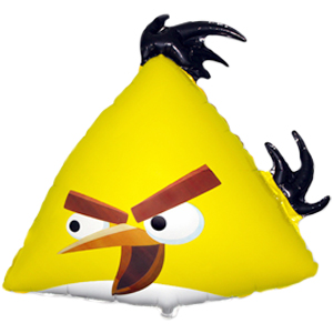 Шар 62 см Фигура Angry Birds Желтая птица