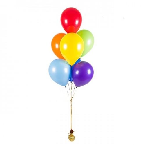 Связка из 7 ярких разносветных шаров