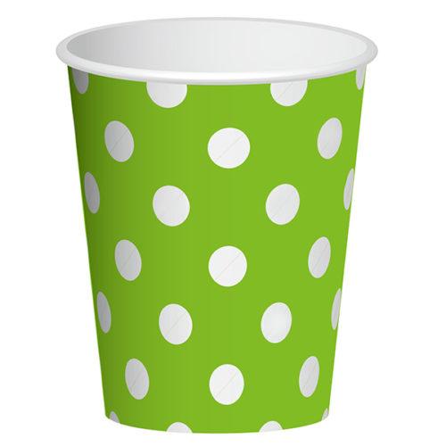 Стаканы бумажные 250 мл Зеленый 6 штук