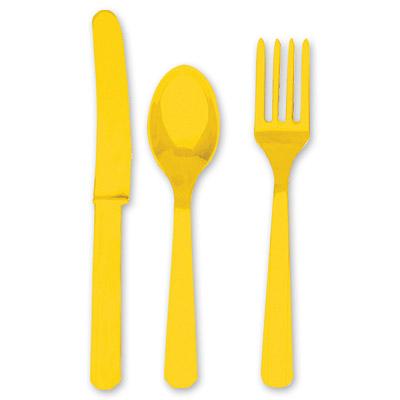 Столовые приборы Желтые Yellow Sunshine 8 персон