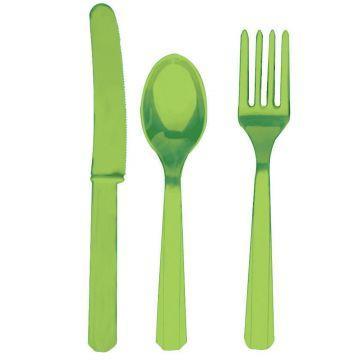Столовые приборы Светло-Зеленые Kiwi Green 8 персон