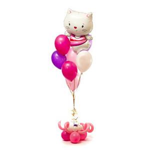 Фонтан из воздушных шаров с Китти